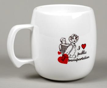 buyolympia.com: Sarah Utter - I Heart Public Transportation :  mug public coffee coffee cup