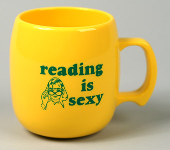 buyolympia.com: Sarah Utter - Reading is Sexy :  recycle buyolympia corn mug