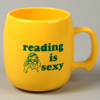 Reading Is Sexy Corn Plastic Coffee Cup Mug