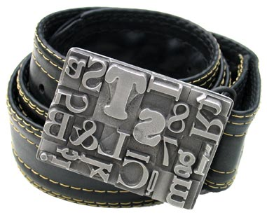 buyolympia.com: Steel Toe Studios - Multifont Belt Buckle